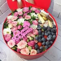 Цветы в шляпной коробке 30003
