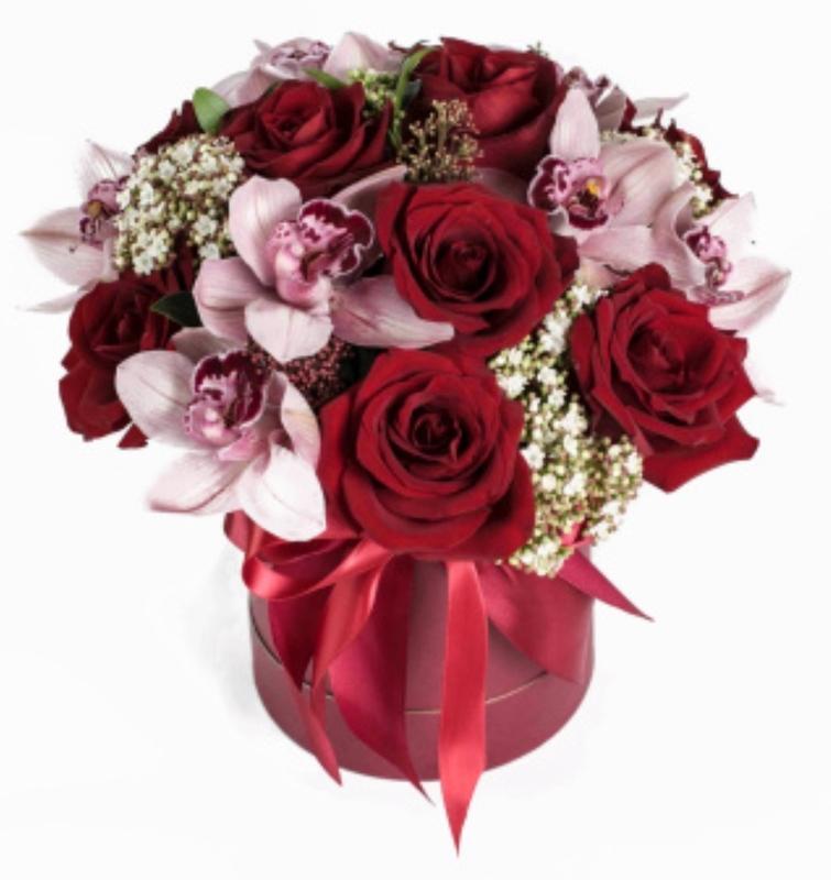 орхидеи и красные розы букет фото подснежников уход