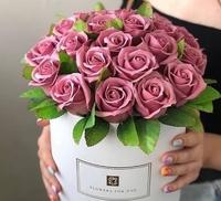 коробка с мыльной розой